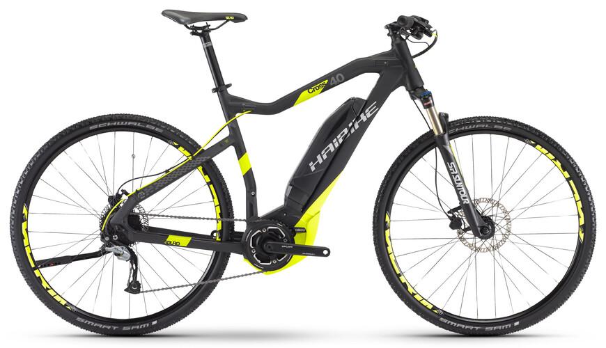 HAIBIKE Sduro Cross 4.0 Elcykel Hybrid svart